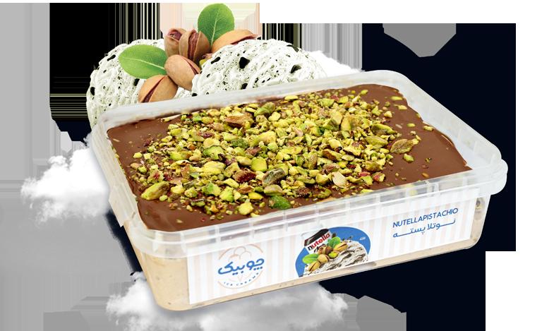 بستنی ژلاتو نوتلا پسته