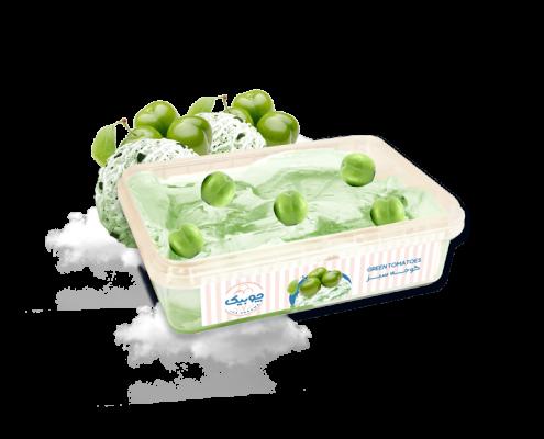 بستنی جلاتو نیم کیلویی گوجه سبز