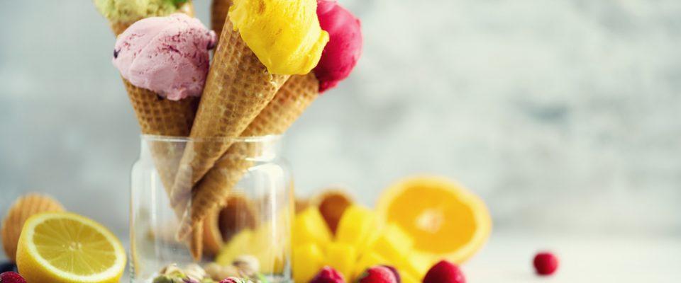 طعم های بستنی قیفی جلاتو